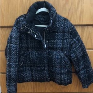 The kooples tweed puffer jacket size 2 brand new